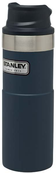 Stanley CLASSIC TRIGGER-ACTION TRAVEL MUG 473 ml, Stahl 18/8, Vakuumisolierung, Nightfall Blue, Kuns