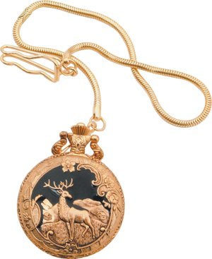 Deer Pocket Watch