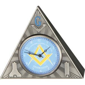 Masonic Table Clock