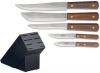 Incl. Messerblock  5 teiliges Messerset  5 pieces Kitchen Knife Set with storage block