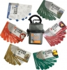 Six  sets of Learn & Live Cards in water-resistant carrying case with carabiner.